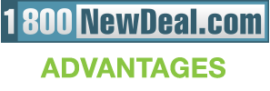 1-800NewDeal.com Advantages